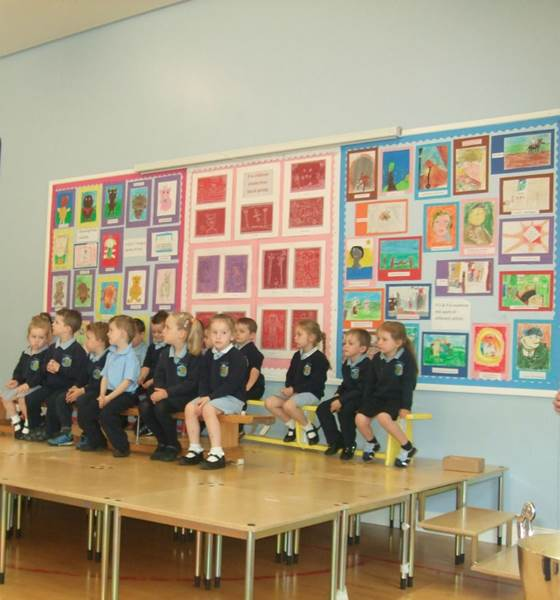 Mrs McBride's class wait in anticipation