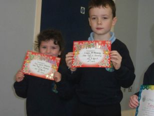 Kindness Celebration Certificates at Assembly