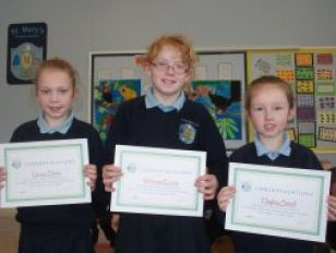 Certificate Award Winners