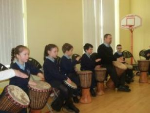 Drumming Away!