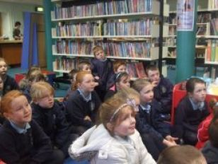 Mrs Hamill's class  visit  the library in Coalisland