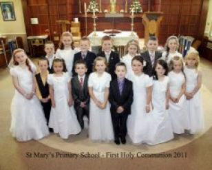 Mrs Hamill's Class celebrate their First Holy Communion