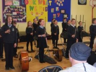 The Primary 5's put on a first class show
