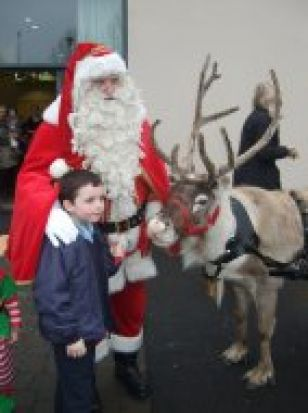 Santa and his Reindeer