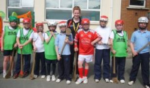P5 and 6 children during an eight week course in Hurling