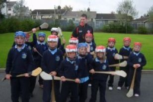 Stephen Donnelly puts pupils through their paces