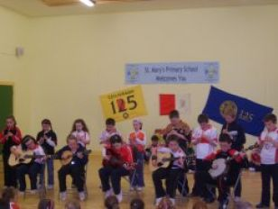 Traditional Music during the '125 GAA Schools day'