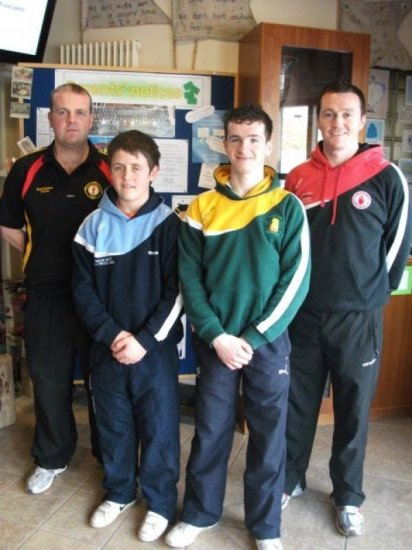 Patrick McCrory and Gavin McCrystal with Ronan & Ryan