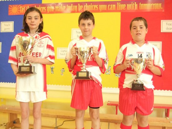 For winners Teach Dearg Place: Teach Dearg house winners for Sports Day 2009-10 with captain Martina Talbot