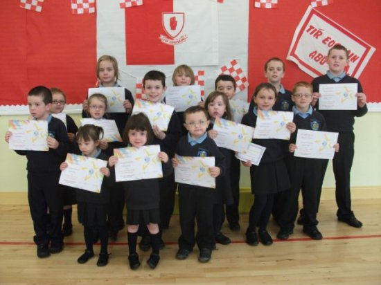 Pupil receive awards