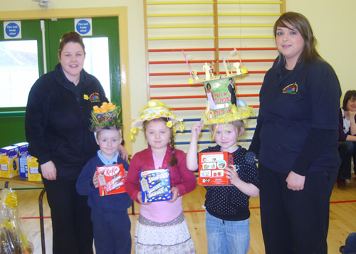 P1 winners of Easter bonnet Competition