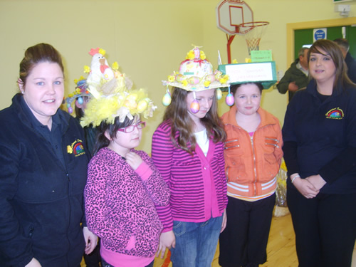 P7 winners of Easter bonnet Competition